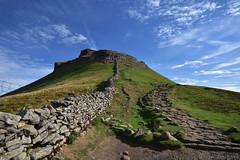 Pen-y-ghent (Bri_J) Tags: yorkshirethreepeaks walk yorkshiredales nationalpark northyorkshire uk yorkshire threepeaks countryside nikon d7200 penyghent hill path drystonewall sky clouds