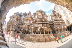 DSC_6281 (Ranjith_july) Tags: architecture archaeology paintings carvings india fisheye traveller wanderlust maharashtra aurangabad sky lowlight structure caves ellora ancient history buildings