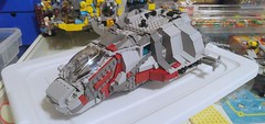 Space-windscreen'd (Tim.Deering) Tags: lego space wip grey red white moc