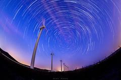 Startrails molinos 2 (sergio estevez) Tags: azul cielo circumpolar fisheye ojodepez largaexposición landscape lajanda luz milkyway nubes nocturna paisaje stars 8mm sergioestevez