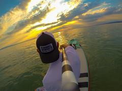 SUP (olijaeger) Tags: standuppaddling standuppaddle sundown sunset fun relaxing bodensee langenargen see seascape colors lake lakeconstance fanatic fanaticsup gopro selfie watersports water green blue fisheye sports