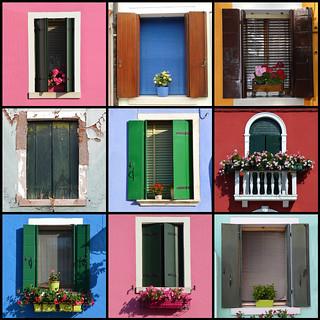 Windows of Burano