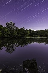Star trails over my local lake. (ross_crawford88) Tags: astrophotography astronomy longexposure startrails stars trees reflections london lake highamspark