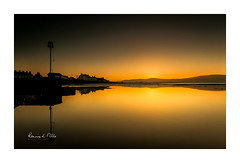 Afterglow at Kinnegar   [Explored] (RonnieLMills 5 Million Views. Thank You All :)) Tags: sunset golden hour afterglow sun down belfast lough kinnegar holywood county northern ireland yellow orange glow reflections explore explored 19818 2 ronnielmills