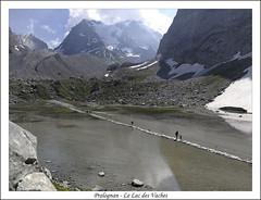 Pralognan - Le Lac des Vaches * (afer92 (busy)) Tags: grandecasse lacdesvaches dale glacier lac moraine névé pralognanlavanoise auvergnerhônealpes france fr montagne neige paysage eau personnes flancdemontagne