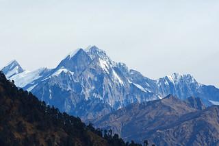 The weatherbeaten rockface of Ngalaphu peak.