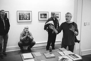 Chuck Patch at his show at Full Circle Photo, October, 2017