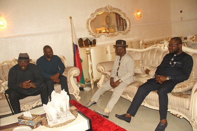 HSDickson- Condolence visit to HIS Excellency by APC Stalwart, Senator Clever Ikisikpo and Mr. Moses Siloko Siasia 25th August 2018