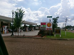 Southaven Pizza Inn/Shell, as seen from the corner of Stateline/Main St. and Assembly Dr. (l_dawg2000) Tags: