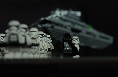 Lord Vader's arrival (Ralph_H) Tags: lego legostarwars legofan legofun legographer legocustom stormtrooper darthvader stardestroyer toy starwars disney switzerland spielzeug white stars lucasfilm universe starship black galaxy military army troups drill soldier thedarkside