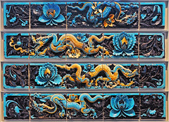 Medieval glazed dragon tiles (IMG_9105) (Piyushgiri Revagar) Tags: tile decoration texture detail pattern glazed background art abstract decorative wall design ceramic artwork craft vintage interior mosaic wallpaper old material handmade surface pottery traditional simple geometrical tiled floor smooth arabesque square glossy azulejos ancient blue spain element shiny white decorator artistic covering spanish floral antique closeup ornamental geometry retro piyushgiri revagar kruti akruti 22 dragon flowers
