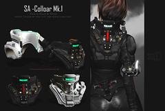 SA - Collar Mk.1 [On sale] (shoukokanto) Tags: secondlife second life scifi cyberpunk sf steampunk cyber armor glow neon headset gear tech high technology hightech girl cybergirl cyberpunkgirl cyberpunkwoman 3dmodeling modeling japan asian サイバーパンク サイバー スチームパンク sole 2nd virtualwold game sexy fire hammer steam cloud mist glove deep coolgirl dusty armtech armlet smoke badgirl lightning thunder soleaccessory arm rain monitor blue cute pretty lovely cyborg gynoid drool tears mesh maitreya star cyberarm kawaii セカンドライフ people photo rainy rainyday portrait jetpack jet headphone