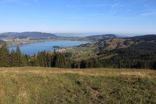 Blick nach Norden ins Schweizer Mittelland