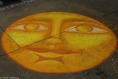 Mr Sun (Thad Zajdowicz) Tags: zajdowicz pasadena california usa travel canon eos 5d3 5dmarkiii dslr digital availablelight lightroom outside outdoors chalkfestival carshow ef24105mmf4lisusm street urban city sun image art chalk bright vivid vibrant color yellow orange colour