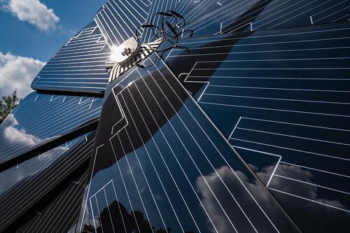 Circular Solar Panels, Ecology Building, Minnesota State Fair