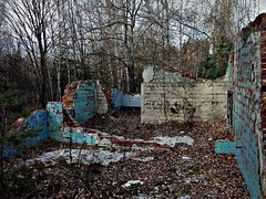 The Ruins 3 (mickygloom) Tags: ruins stone forest trees nature destroyed demolished buildings abandoned construction bricks walls wall decrepit old remnants