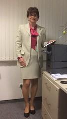 Secretary Marie-Christine (Marie-Christine.TV) Tags: feminine lady mariechristine tgirl tgurl secretary skirtsuit businesssuit blouse pussybow satin hawesandcurtis schluppenbluse bluse kostüm sekretärin büro office