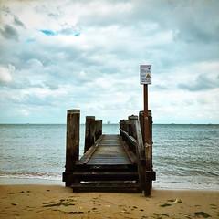 Föhr away ferry, Föhr, Germany (dougfot) Tags: beach insel germany jetty föhr hipstamatic