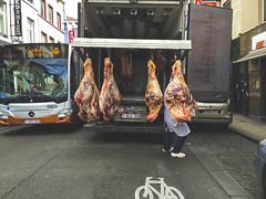 Halal is heavy. Petite Anatolie, April 2015. (joelschalit) Tags: belge belgium bruxelles brussels immigrants refugees asylumseekers migrants middleeast muslims islam eu europeanunion europe streetphotography schaerbeek food beef halal