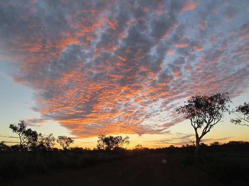 Sunset over the Pilbara