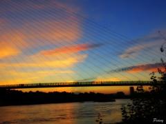 Sombra (peavy30) Tags: zaragoza rio ebro atardecer cielo color sky clouds aragon septiembre verano
