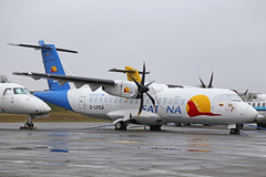 2-LFEA ATR42-500 Satana Toulouse Francazal 27th March 2018 (michael_hibbins) Tags: 2lfea atr42500 satana toulouse francazal 27th march 2018 aircraft aeroplane aviation aerospace airplane aero airport airports atr 42 atr42 france french european manufacture propeller ttail stored awaiting delivery finishing shop