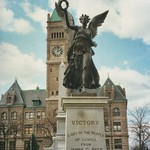 Lowell Massachusetts  - Historic City Hall  - Statue Victory thumbnail