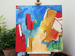The latest from the #Woodley #artist #residency this Monday morning! #semifigurative #seaview #contemporarypainting #rdguk (www.mahliaamatina.com) Tags: abstract art relaxing mindful vibrant painting painter artist colourist nepal impressionism abstraction notional occult philosophical profound recondite separate existential healing magic