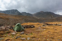 Camping in Tschkheri Valley (Paweł Błaszak) Tags: kazbek caucasus georgia landscape tent mountains