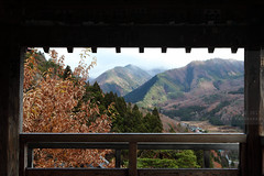 Frame (Elios.k) Tags: horizontal outdoors nopeople godaido hall beam wood roof observationdeck mountain mountainrange view landscape countryside valley vistapoint trees forest foliage sky cloud cloudy mist weather colour color travel travelling vacation canon 5dmkii camera photography december 2017 winter yamadera temple risshakuji shinto tendai buddhism yamagata yamagataprefecture tōhokuregion tohoku honsu asia japan