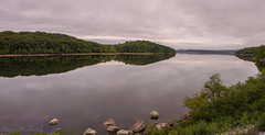 Wanaque Reservoir_4388-4389 (smack53) Tags: smack53 panorama wanaquereservoir ringwood newjersey westbrook lake pond water reflections mountains scenic scenery outdoors outside nikon d100 nikond100 summer summertime