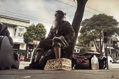 Visions of a cheeseburger (PeterThoeny) Tags: sanfrancisco california haightashbury person portrait street streetphotography travel freedom outdoor sony a7 a7ii a7mii alpha7mii ilce7m2 fullframe fe2870mmf3556oss 1xp raw photomatix hdr qualityhdr qualityhdrphotography fav100