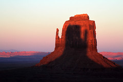 When Fates Collide (shadamai) Tags: eastmittenbutte shadow monumentvalley arizona alignment