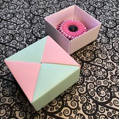 ORIGAMI BOXES (19) (JOHN MORGANs OLD PHOTOS.) Tags: made by john morgan 160 gsm card for my ribbon brooches origami boxes box
