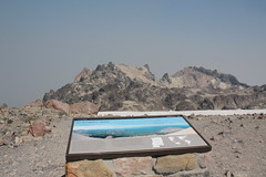 Sign about the view, but there was no view today (rozoneill) Tags: lassen volcanic national park peak hiking california volcano