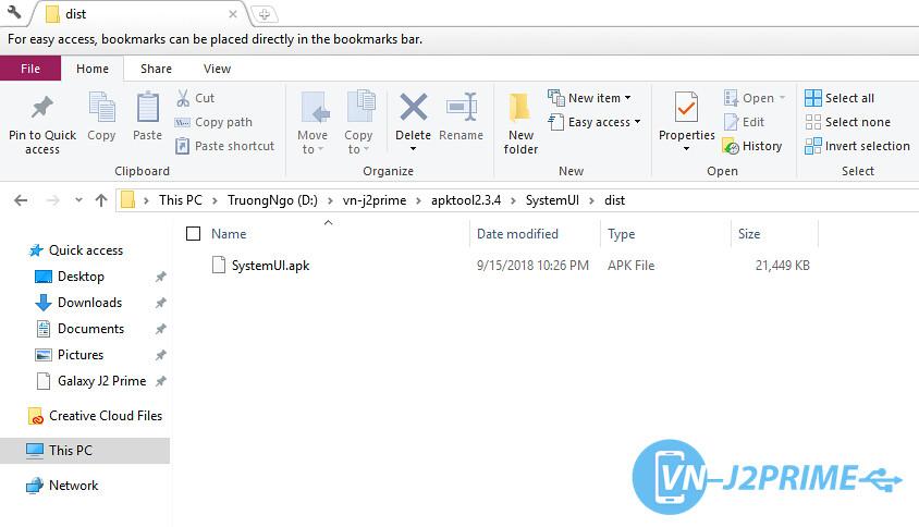 File apk sau khi recompile hoàn thành