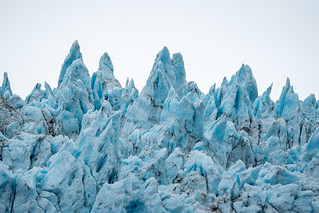 Close up view of Holgate Glacier