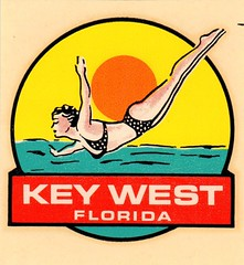 Key West -Impko Decal (EllenJo) Tags: vintagetraveldecal decal waterdipdecal vintage ellenjo