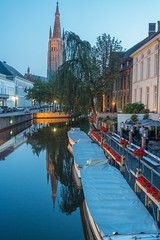 Bruges, Belgium-01722 (gsegelken) Tags: belgium bruges vantagetravel boat canal night