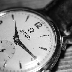 Vintage Omega (Photo Alan) Tags: watch vintage marco happymacromonday blackwhite blackandwhite monochrome vintagewatch omega vancouver closeup canada
