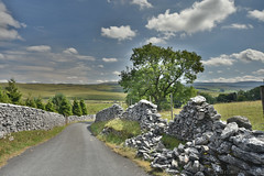 Three Peaks Road (Bri_J) Tags: yorkshirethreepeaks walk yorkshiredales nationalpark northyorkshire uk yorkshire threepeaks countryside nikon d7200 road drystonewall trees clouds sky