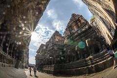 DSC_6287-2 (Ranjith_july) Tags: architecture archaeology paintings carvings india fisheye traveller wanderlust maharashtra aurangabad sky lowlight structure caves ellora ancient history buildings