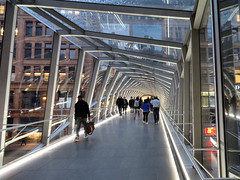 Pedestrian Bridge, Eaton Centre, Toronto, Ontario (duaneschermerhorn) Tags: toronto ontario canada city urban downtown architecture building skyscraper structure highrise architect modern contemporary modernarchitecture contemporaryarchitecture pedestrian people walking walkway
