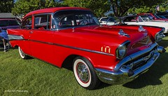 Red 1957 Chevy Bel Air (Kool Cats Photography over 10 Million Views) Tags: canon canoneos6d chevy red carshow classic car grass wheels windshield vehicle classiccar