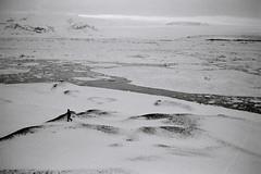 l'échappé (asketoner) Tags: silhouette jokulsarlon glacier icefield winter snow hike iceland daylight white lagoon icebergs ice crack mountains landscape