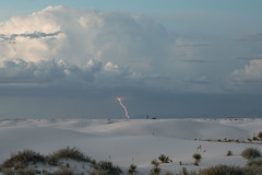 Target Practice (gseloff) Tags: clouds lightning sanddune desert storm landscape people nature whitesandsnationalmonument evening newmexico gseloff