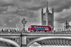L O N D O N (pbuschmann) Tags: london blackwhite bus westminster england parliament