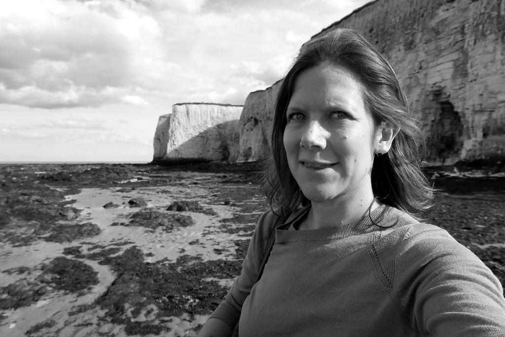 Botany Bay selfie, Viking Coastal Trail, Margate