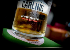 Carling. (CWhatPhotos) Tags: cwhatphotos camera photographs photograph pics pictures pic picture image images foto fotos photography artistic that have which contain digital panasonic lx15 lx10 carling tabletop drink lager beer alcohol pub