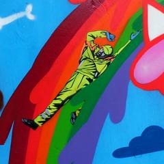 Jaune (oerendhard1) Tags: graffiti streetart urban art stencil rotterdam oerendhard karel doormanstraat jaune jonathan pauwels oxalien lastplak